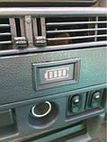 Индикатор (вольтметр) 12В заряда аккумулятора (Синий), фото 5