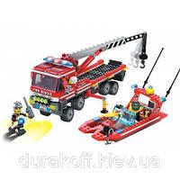 Конструктор Brick 907 Пожарная бригада 420 детали