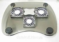 Подставка для ноутбука с 3мя кулерами cooler pad CKT-05 Чёрная