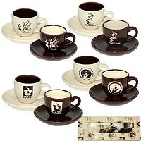 Сервиз кофейный 12пр. 'Кофе блэк' 1533-07, фото 1