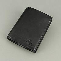 Кошелек мужской кожаный черный паспорт B. Cavalli 456, фото 1
