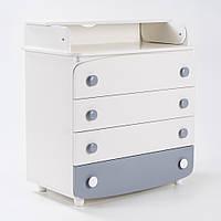 Комод-пеленатор Верес 600 белый/серый