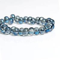 Стеклянная Бусина, Водяная капля, Синий прозрачный, 6 mm x 5 mm, 2.0 мм