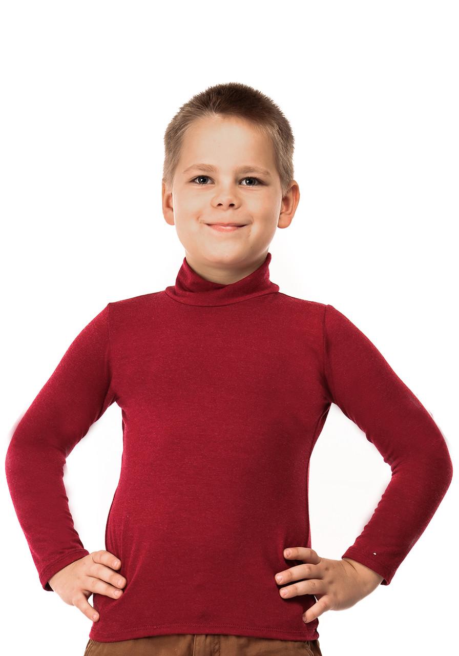 Гольф детский кашемир бордо