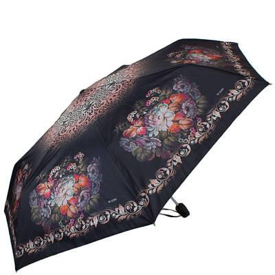 Шикарный женский зонт автомат ТРИ СЛОНА RE-E-070D-3, цвет черный. Антиветер!