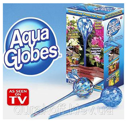 """2x Стекляные шары для автополива растений Аква Глоб, Aqua Globes, F65 - Интернет-магазин """"Ценовал"""" в Львове"""