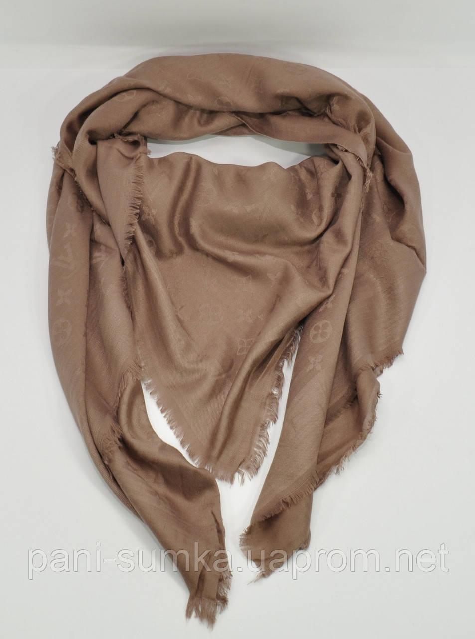Большой кашемировый платок Louis Vuitton 7988-2 капучино, расцветки -  Интернет магазин