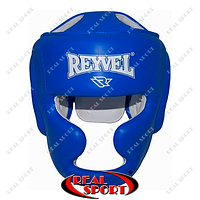 Шлем боксерский тренировочный Reyvel Винил BK030028-B (р-р M-L, синий)