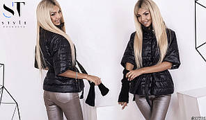 Стильная стеганная курточка с коротким рукавом., фото 2