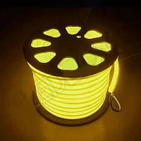 Светодиодный LED гибкий неон 2835\120 IP68 220V—жовтый.