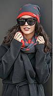 Комплект шапка и шарф хомут №184 в расцветках, фото 1