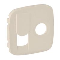 Лицевая панель для розетки TV+RJ45, Legrand Valena Allure Слоновая кость