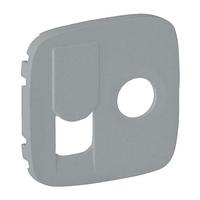 Лицевая панель для розетки TV+RJ45, Legrand Valena Allure Алюминий