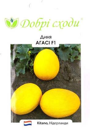 Семена дыни Агасси 10шт ТМ ДОБРІ СХОДИ, фото 2