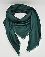 Большой кашемировый платок, шаль Louis Vuitton изумрудная