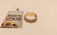 Кольцо золотое круглое со вставками 5,23 грамм, размер 18,5.