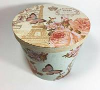 Подарочная коробка ведро для цветов большое