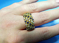 Кольцо серебро 925 пробы с цырконием