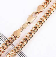 Цепочка xuping 4мм 50см медицинское золото позолота 18К панцирное плетение ц636, фото 1