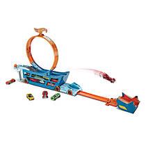 Трек Хот Вилс Hot Wheels Автовоз трансформер Трюки и Гонки на 19 машин Hot Wheels Stunt n' Go Track Set DWN56