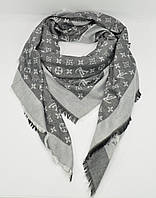 Большой кашемировый платок Louis Vuitton 7988-4 темно-серый, расцветки