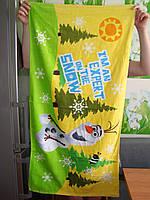 Пляжное полотенце Холодное сердце Снеговик Олаф