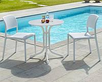 Обідній комплект Стіл  STEP 60 см + 2 стільці Bora bistrot mix color
