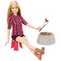 """Інтерактивний набір лялька Барбі """"Відпочинок біля багаття"""" FDB43 Barbie, фото 1"""