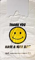 """Пакет полиэтиленовый Майка  """" Смайл"""", Упаковка: 250 шт, Ширина: 27 см, Высота: 46 см"""