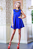 Платье с завышенной талией ЛОРАН электрик
