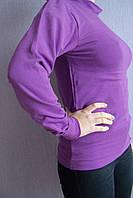 Гольф для девочки фиолетовый водолазка  плотный с 38 размера