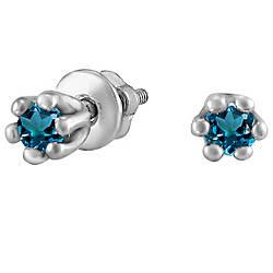 Сережки зі срібла з куб. цирконіями 178315