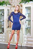 Платье облегающее короткое ВИВЬЕН темно-синее