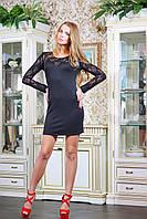 Платье облегающее короткое ВИВЬЕН черное