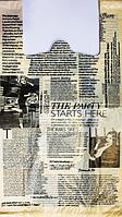 """Пакет полиэтиленовый Майка  """"Газета"""", Упаковка: 100 шт, Ширина: 30 см, Высота: 55 см"""