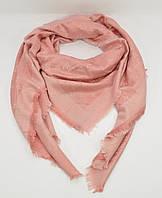 Большой кашемировый платок, шаль Louis Vuitton пудровая