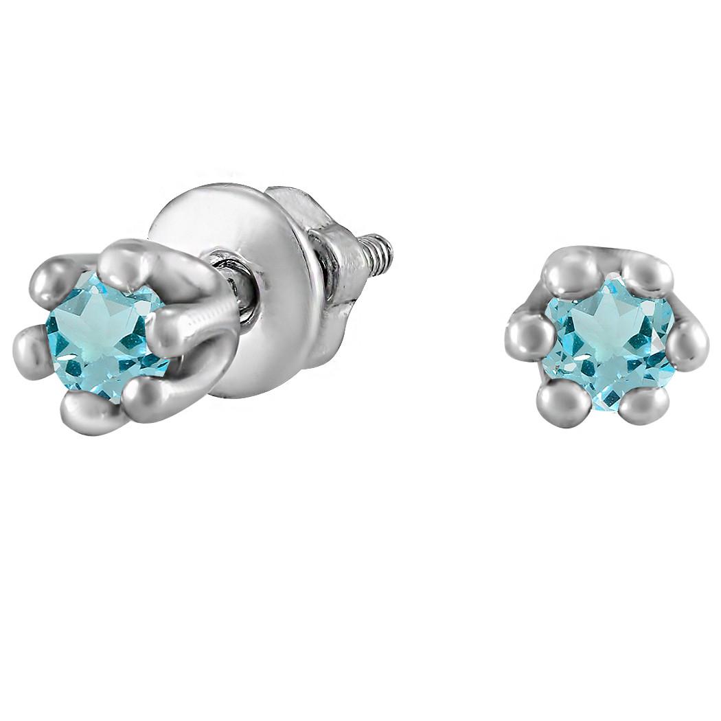 Серьги из серебра с куб. циркониями 178322