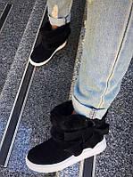 Ботинки зимние натуральная замша, разные цвета Uk0387