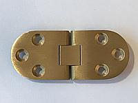 Петля для складного стола 180 градусов (Siso) Золото 30х72 мм