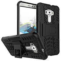 Чехол накладка противоударный TPU Hybrid Shell для Asus Zenfone 3 ZE552KL черный