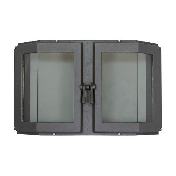 Симметричная эркерная дверца для камина SVT 515