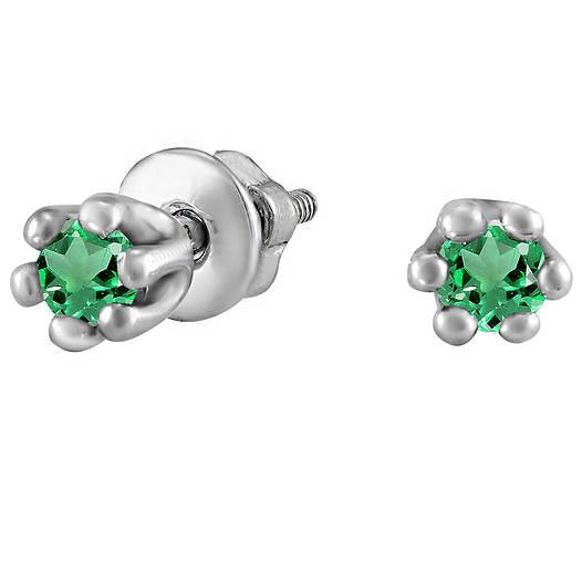 Серьги из серебра с куб. циркониями 178339