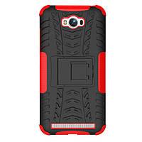 Чехол накладка противоударный TPU Hybrid Shell для Asus Zenfone Max ZC550KL красный