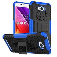 Чехол накладка противоударный TPU Hybrid Shell для Asus Zenfone Max ZC550KL синий