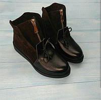 Ботинки женские зима/весна кожа/замша разные цвета 0054АЛМ