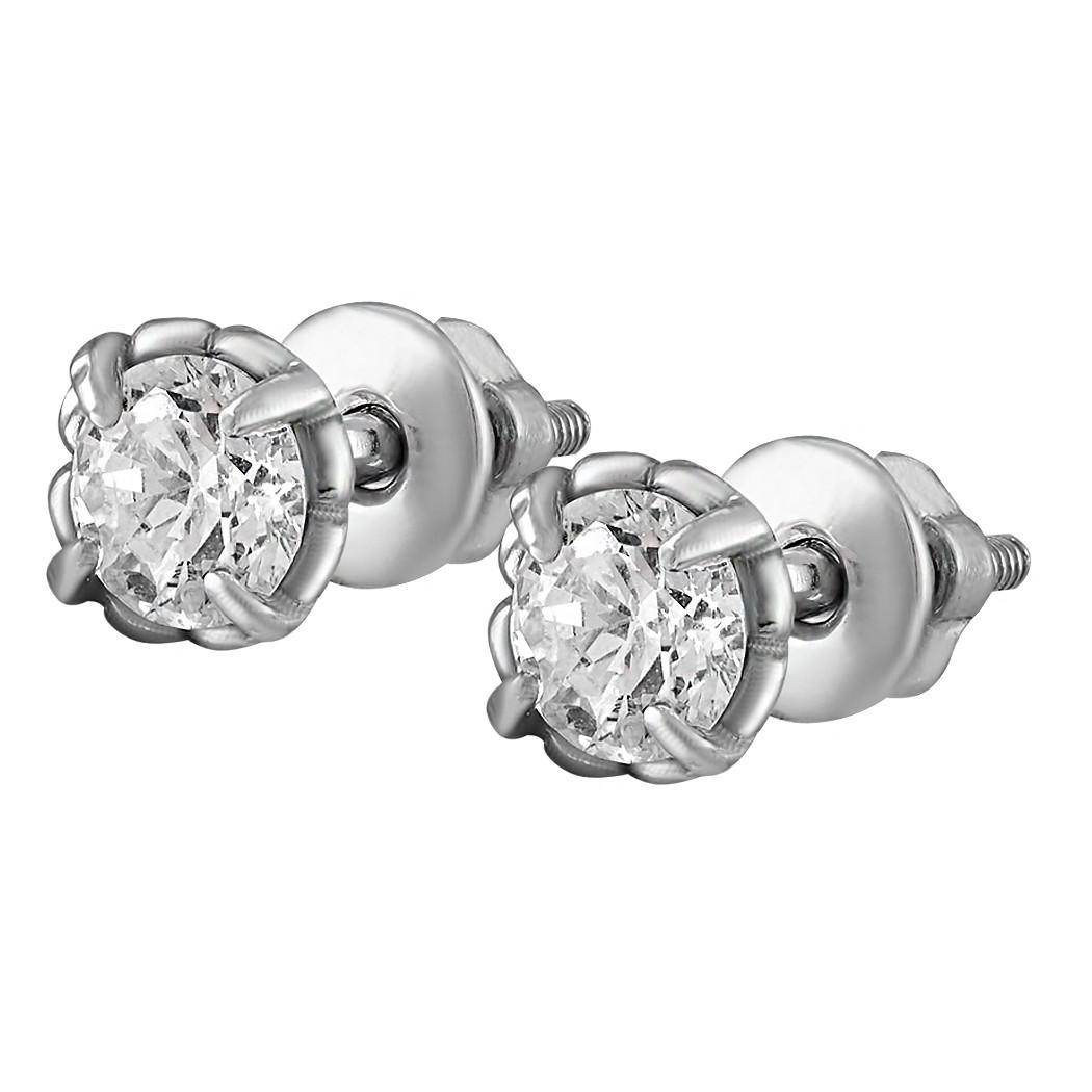 Серьги из серебра с куб. циркониями 178346
