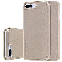 Кожаный чехол-книжка Nillkin Sparkle Series для Apple iPhone 7/8 Plus Gold