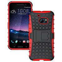 Чехол накладка противоударный TPU Hybrid Shell для HTC 10 красный