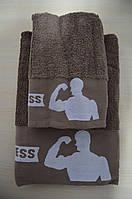 Махровые полотенца банные эксклюзивные фитнес ! 2 штуке в упаковке ( 70х140 и 50х90 см.,) шоколад