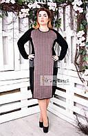 Прямое вязаное платье с карманами Комплимент 7 цветов Розовый, 3